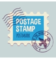 postmark template vector image vector image