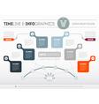 Presentation slide template or business vector image vector image