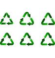 recycling symbol green arrows vector image