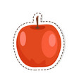 red apple flat isolated sticker or icon