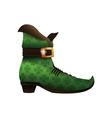 saint patricks day boot green vector image vector image