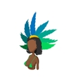 Samba dancer icon cartoon style vector image vector image