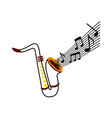 saxophone note music jazz instrument festival vector image vector image