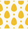 seamless easter pattern with big flat eggs vector image vector image