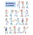 set baseball players at classic uniform vector image