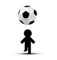 Soccer - Football Ball with Player Man Silhouette vector image vector image