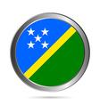 Solomon Islands flag button vector image vector image