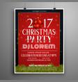 stylish christmas celebration invitation template vector image vector image