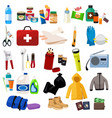 survival kit icons vector image