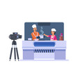 television cooking show cartoon entertainment tv vector image