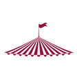 tent icon circus and carnival design graphic vector image