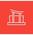 Torii gate line icon vector image vector image