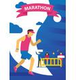 triathlon track running vector image vector image