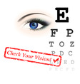 vision test vector image vector image