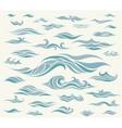 waves set of elements for design vector image vector image