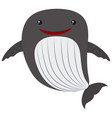 whale with happy face vector image vector image