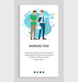 working task boss and worker employer and employee vector image