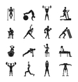 Workout Black And White Set vector image vector image