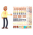 young male businessman character with gestures set