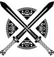 fantasy swords second variant vector image
