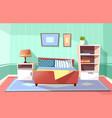 cartoon bedroom interior background