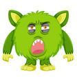 a green monster facial expressiona vector image