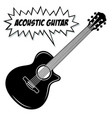 acoustic guitar 6 strings vector image