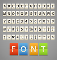 Alphabet and digits on paper diary vector image vector image