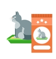 angry cat on toilet as commercial vector image vector image
