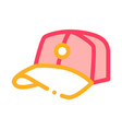 baseball cap hat icon outline vector image vector image