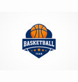 basketball logo american sports symbol and icon vector image vector image