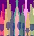 Bottles silhouette vector image
