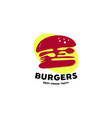 burgers logo designs with spoon and fork symbol vector image
