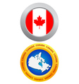 button as a symbol of Canada vector image vector image