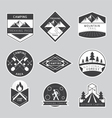 Camping Label and Badge Monochrome Style vector image vector image