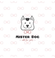 cartoon style pet shop logo Hand drawn vector image