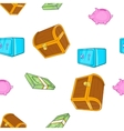 Cash pattern cartoon style vector image vector image