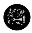 chaos theory black icon sign on isolated vector image vector image