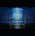 cinema entertainment with chair and trophy vector image vector image