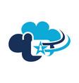 cloud secure logo design template vector image vector image