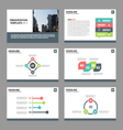 Colorful Abstract presentation templates set vector image vector image