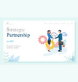 company partnership business investment vector image vector image