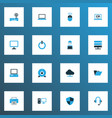computer icons colored set with server internet vector image vector image