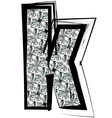 Diamond Font letter k vector image vector image