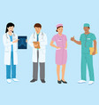 doctor and medical people cartoon flat set vector image vector image
