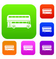 double decker bus set collection vector image vector image