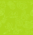 easter holiday seamless pattern green doodles vector image