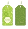 environmental vertical round frame pattern tags vector image vector image