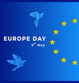 europe day celebration 9th may background vector image vector image