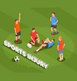 football sports injury background vector image vector image